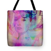 Movie Icons - Audrey Hepburn Vi Tote Bag