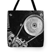 Movie Projector Gears In Black And White Tote Bag