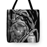 Movie Projector Light In Black And White Tote Bag