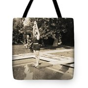 Movie Star About To Dive Tote Bag