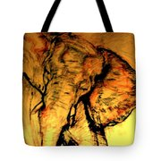Moving Elephant Tote Bag