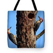 Red Bellied Woodpeckers Tote Bag