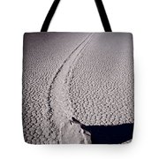 Moving Rocks Number 2  Death Valley Bw Tote Bag