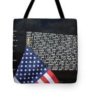 Moving Wall - Vietnam Memorial Tote Bag