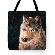 Moving Wolf Tote Bag