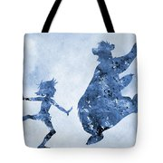 Mowgli And Baloo-blue Tote Bag