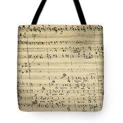 Mozart: Requiem Excerpt Tote Bag