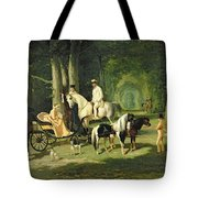 Mr And Mrs A Mosselman And Their Two Daughters Tote Bag by Alfred Dedreux