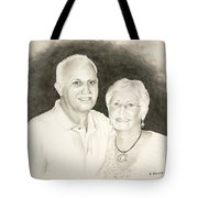 Mr And Mrs B Tote Bag