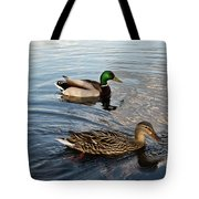 Mr And Mrs Duck On Parade Tote Bag
