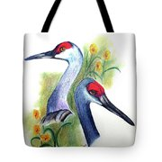Mr And Mrs Sandhill Cranes Tote Bag