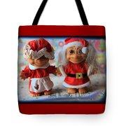 Mr And Mrs Santa Troll Tote Bag