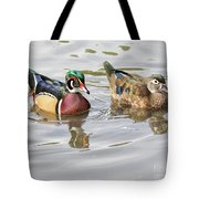 Mr. And Mrs. Wood Duck Tote Bag