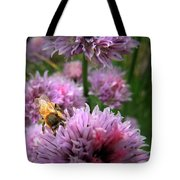 Mr Bee On My Chives Tote Bag