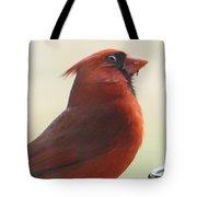 Mr Cardinal Tote Bag by Maxine Billings