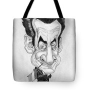 Mr Nicolas Sarkozi Caricatur Portrait Tote Bag