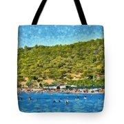 Megalo Kavouri Beach Tote Bag