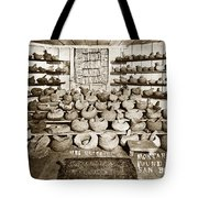 Mrs. Butts Mortar And Pestle Collection Found In San Benito Co. Tote Bag