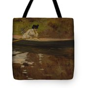 Mrs. Chase In Prospect Park , William Merritt Chase Tote Bag