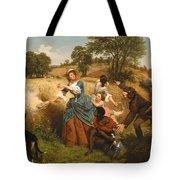 Mrs Schuyler Burning Her Wheat Fields Tote Bag