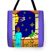 Ms Cleo On A Balcony In Paradise Tote Bag