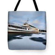 Ms Mount Washington At Winter Dock Tote Bag