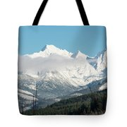 Mt Baker And Clouds Tote Bag
