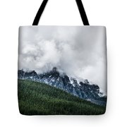 Mt Chephern Engulfed In Clouds Tote Bag by Adnan Bhatti