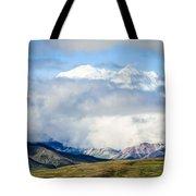 Mt Denali In The Clouds Tote Bag