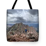 Mt Eolus And The Catwalk From North Eolus - Chicago Basin - Weminuche Wilderness - Colorado Tote Bag