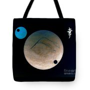Mt Fuji Moon Tote Bag