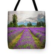 Mt. Hood And Lavender Tote Bag