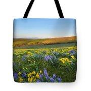 Mt. Hood Wildflower Morning Tote Bag