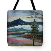 Mt Hood Winter Sunrise Tote Bag