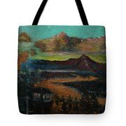 Mt Hood With Paper Mill Tote Bag