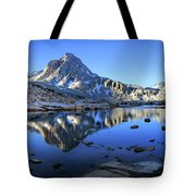 Mt Huxley Over Saphire Lake Morning - John Muir Trail Tote Bag