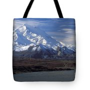 Mt. Mckinley And Lenticular Clouds Tote Bag