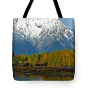 Mt Moran From Ox Bow Bend Tote Bag