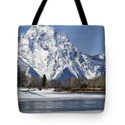 Mt Moran From Oxbow Bend Tote Bag