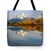 Mt Moran From The Ox Bow Tote Bag