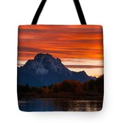 Mt. Moran Sunset Tote Bag