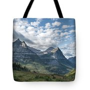 Mt. Oberlin From Logan Pass Tote Bag by Jemmy Archer