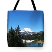 Mt. Rainier And Tipsoo Lake Tote Bag