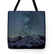 Mt Rainier Milkway Climbers Tote Bag