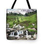 Mt Rainier Paradise Portrait Tote Bag