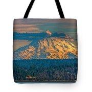 Mt Rainier Sunset Tote Bag