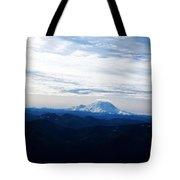 Mt Rainier Under Clouds Tote Bag