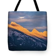 Mt Rundle Sunset Banff Tote Bag