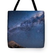 Mt Taranaki Galactic Core Tote Bag