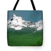 Mt Thielson Coated Tote Bag
